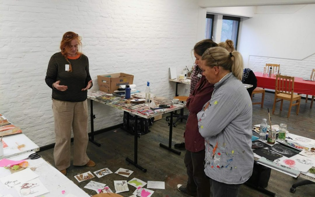 Workshop am 30. März 2019 kleines Bilderkarussell mit Karen Betty Tobias